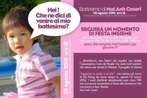 Battesimo Mai Anh Ceseri - contributo a CarethePeople