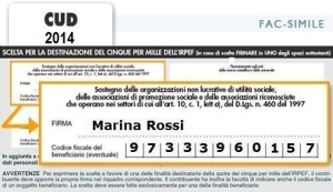 CUD 5x1000 a favore di carethepeople onlus