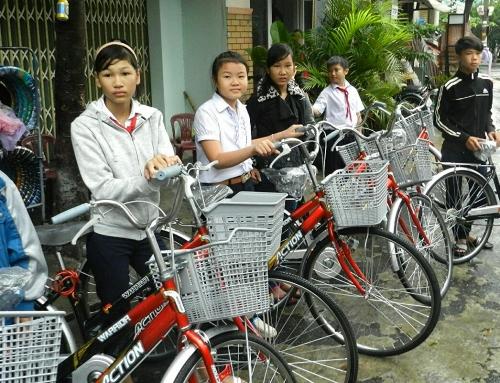 Le biciclette per la scuola